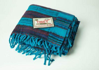 Manta tibetana azul y granate