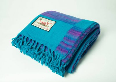 Manta tibetana azul y lila